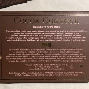 Too Faced Makeup - TOO FACED COCOA CONTOUR PALETTE